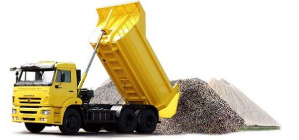 доставка гравия и щебня самосвалами в минске